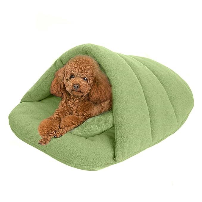 YJZQ - Saco de Dormir Suave para Mascotas, Gatos, Cuevas y Casas, Forro Polar, para Mascotas, cojín de Nido, Muy cálido y Acogedor, para Mascotas, ...