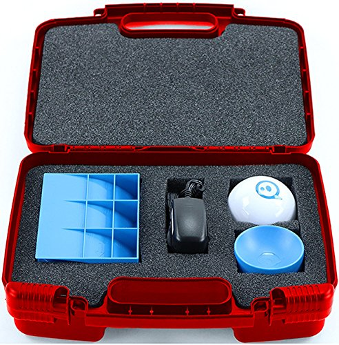 Life Made Better Storage Organizer - Compatible with Sphero 2.0 The App-Controlled Robot Ball And Accessories- Durable Carrying Case - Red (Pick It 2 Starter Kit)