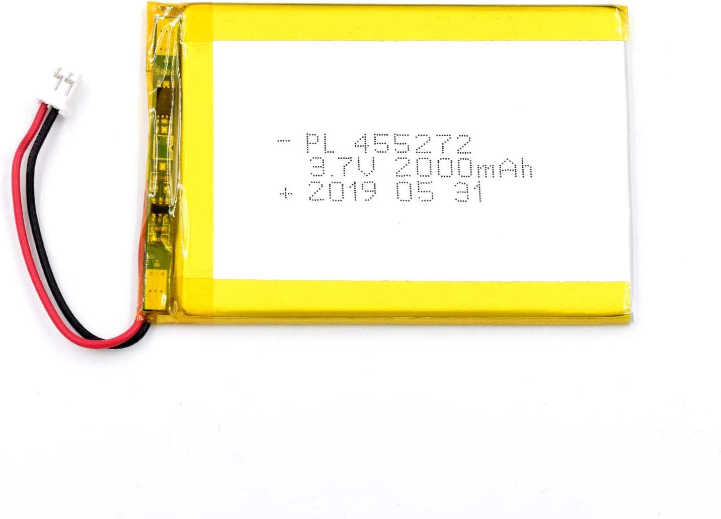AKZYTUE 3.7V 2000mAh 455272 Lipo Battery Rechargeable Lithium Polymer ion Battery Pack with JST Connector