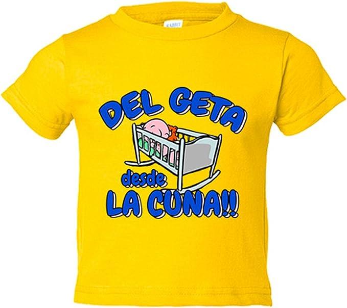Camiseta niño del Geta desde la cuna Getafe fútbol - Amarillo, 3-4 años: Amazon.es: Bebé