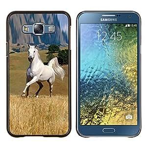 """Be-Star Único Patrón Plástico Duro Fundas Cover Cubre Hard Case Cover Para Samsung Galaxy E7 / SM-E700 ( Mustang Horse Estepa Gran Salvaje Outback Libertad"""" )"""