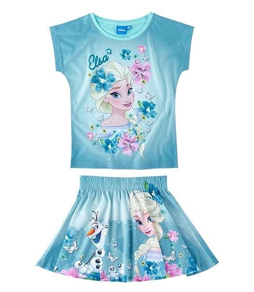 42d846d0d3169c Disney Frozen - Il regno di ghiaccio Ragazze Maglietta e gonna - blu - 140