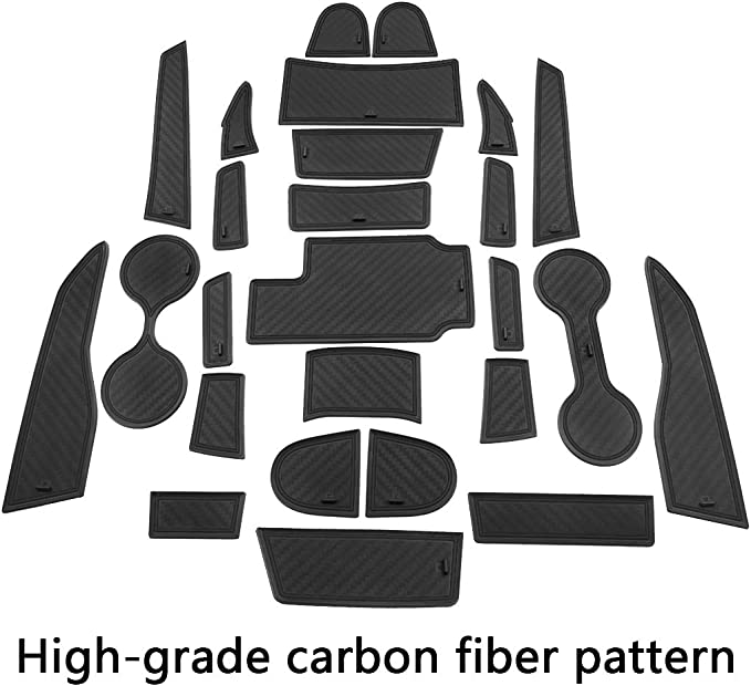 Door Pocket Inserts 26-pc JIECHEN Fit for GMC Canyon and Chevy Colorado Custom Liner Cup Accessories Premium Cup Holder Console