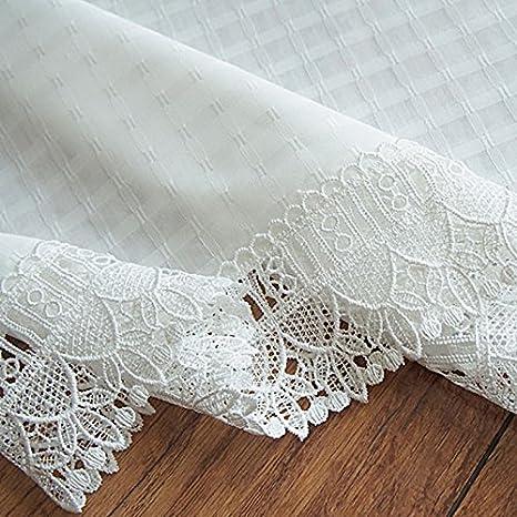 thegymyarraville.com.au OLizee Elegant White Lace Kitchen Curtain ...