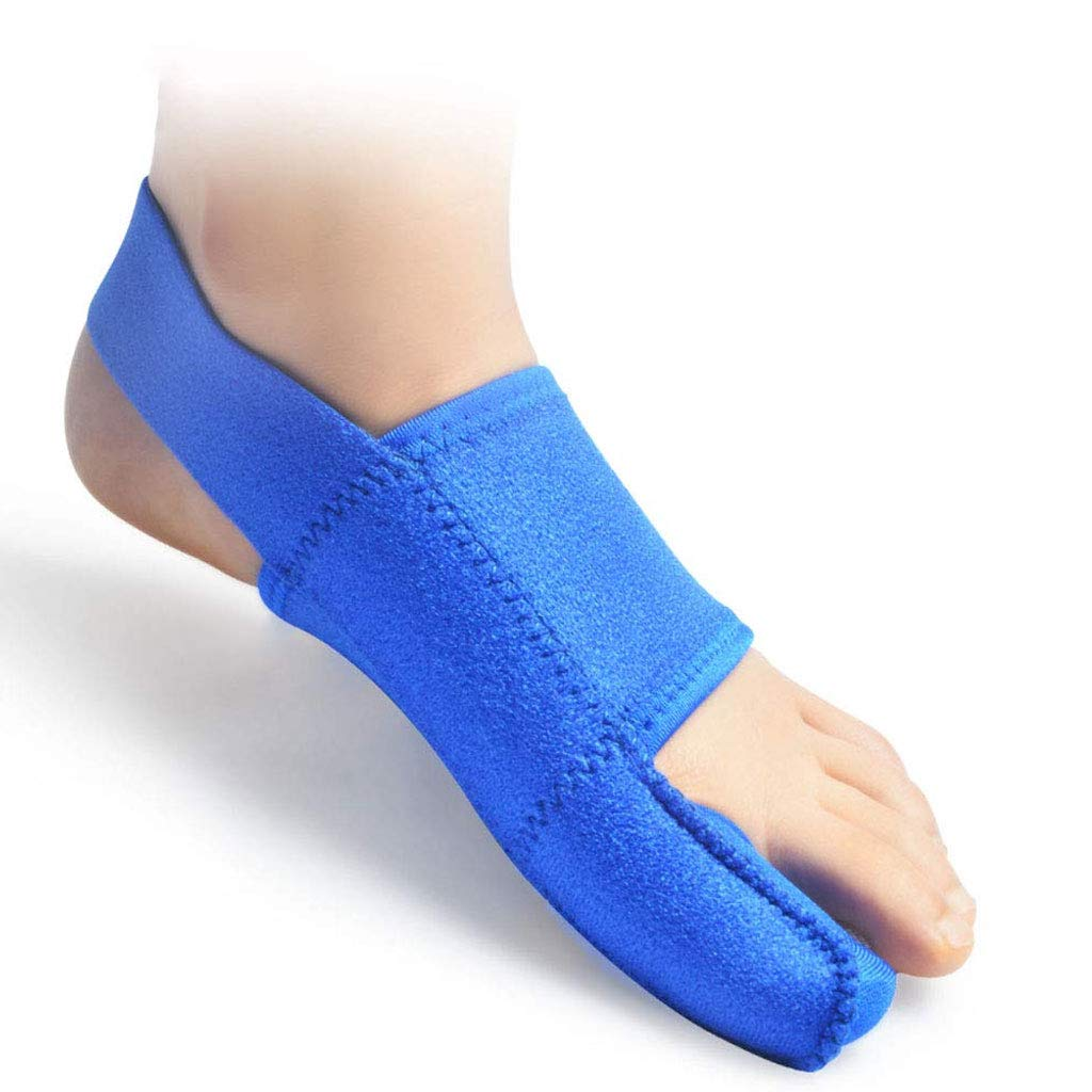 DONGBALA Elastic Bunion Corrector, Adjustable 24H Day Night Protector Sleeves Toe Straightener Hallux Valgus Toe Joint Easy Wear in Shoes for Woman and Man(Blue),Leftfoot by DONGBALA