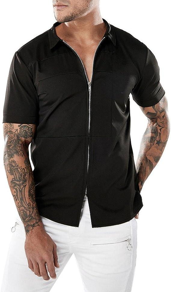 Homebaby/® Camicia Uomo Elegante Maglietta Manica Corta T-Shirt Uomo Vintage T Shirt Stretch Maglione Cotone Uomo Tumblr Estiva Particolari Magliette Corte