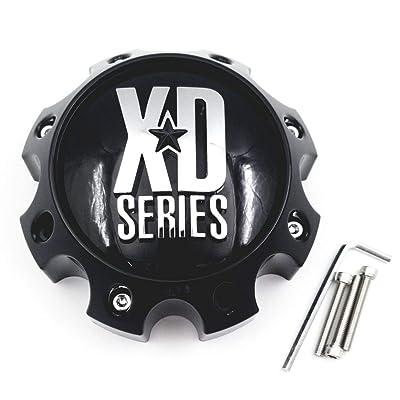 KMC XD Series 1079L170 LG1301-05 1079L170GB Gloss Black 8 Lug Center Cap: Automotive