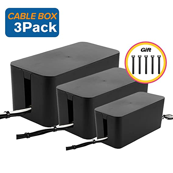 Review Cable Management Boxes Organizer,Large