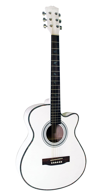 Amazon Com Martin Smith W 401e Wht Electric Acoustic Guitar Cutaway