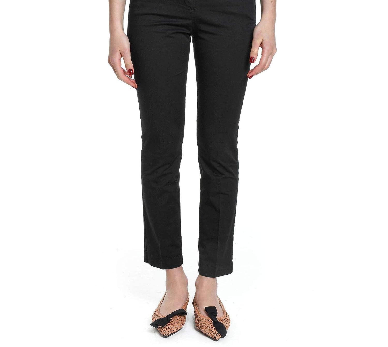 Manila Grace Women's LEDAC1MD612 Black Cotton Pants
