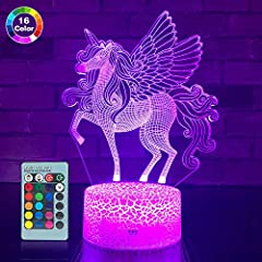 Color:Cute Unicorn  A particularly interesting gift for your loved one!  Main Features:   ★Touch Control:The Unicorn night light is designed for kids to learn and have fun. Touch the power button on the base to change colors or turn on/off th...