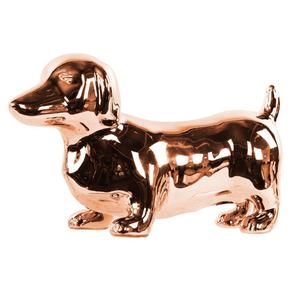 Benzara BM133647 Standing Dachshund Dog Figurine - Copper - 10 x 4.25 x 6 in. B074QQCW6V