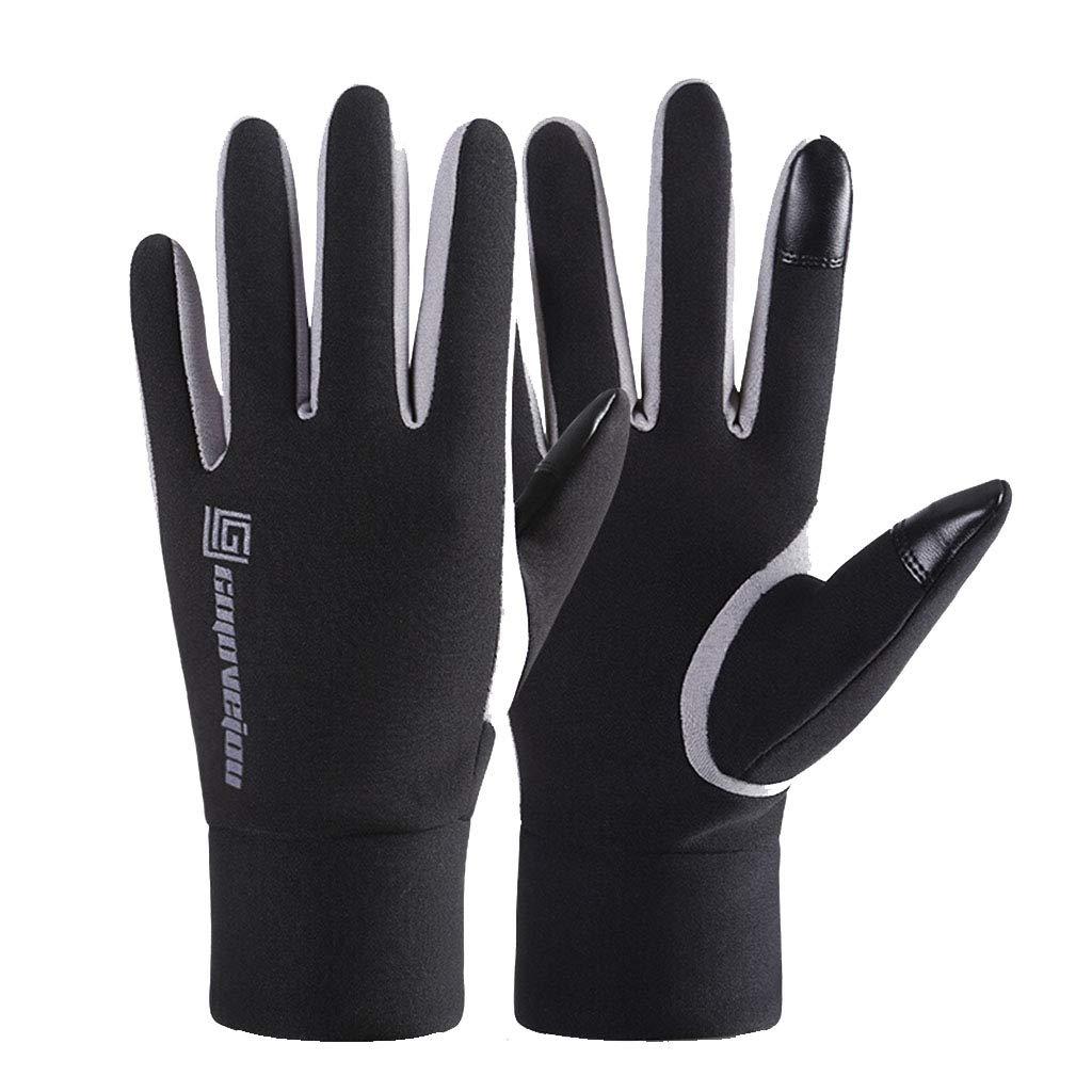 DSADDSD Sporthandschuhe, Outdoor-Herbst und Winter Alle Finger wasserdicht und Winddicht Warm Touchscreen Reiten Ski-Handschuhe