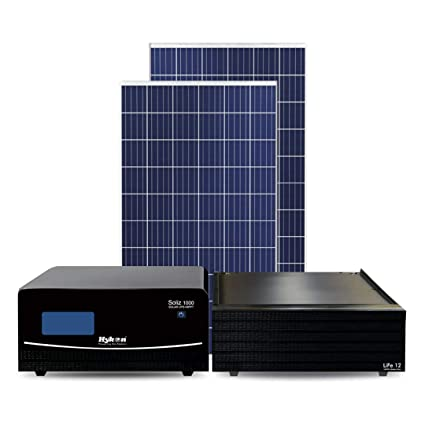 Hykon Soliz Combo Pack 1 Solar Inverter 1000 Va Lithium Battery 50ah Solar Panel 500w Amazon In Home Kitchen