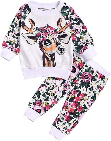 K-Youth Chandal Bebe Niña Conjunto Bebe Niño Navidad Reno Floral ...