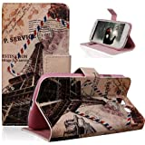 TRURENDI Vintage Retro Paris France Eiffel Tower Girls Cute Animal Painted Art Series PU Leather Wallet Type Magnet...