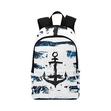 Mano Pintar mar Naturaleza Mochila Casual Bolsa de Viaje Mochila Escolar para Hombres y Mujeres