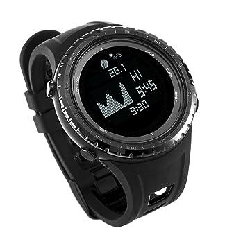 Mejor ES Digital deporte pesca reloj con funciones de altímetro, barómetro y marea | Pesca