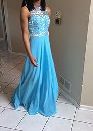 Amazon.com: Vickyben Prom Dress Royal Blue Floor Length