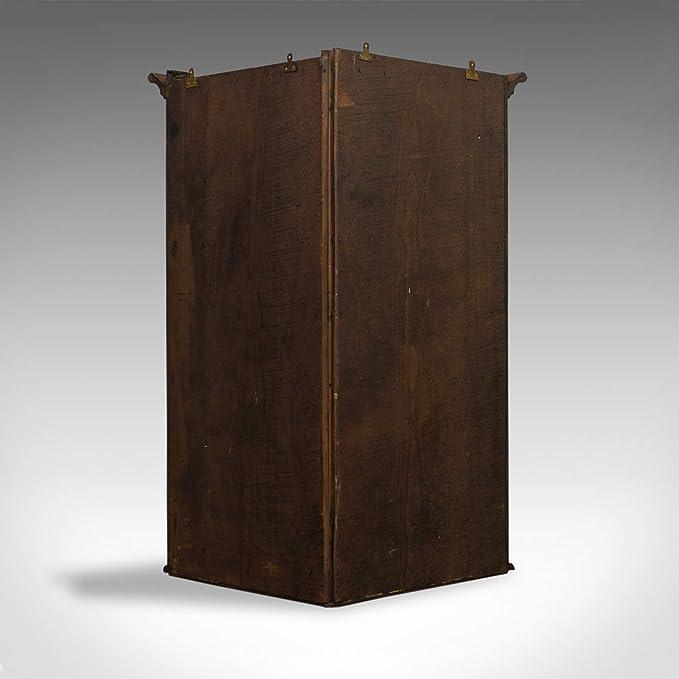 Desconocido Armario esquinero Antiguo, inglés, georgiano, Roble, para Colgar, Armario de Pared, c.1780: Amazon.es: Hogar