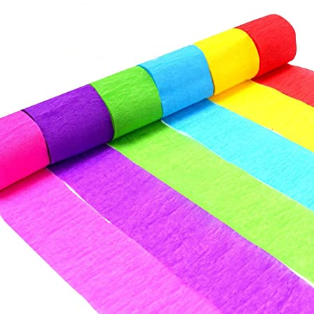 Crepe Paper Streamers Decorative Tissue Roll Eholder 6 Colors For Festival Birthday