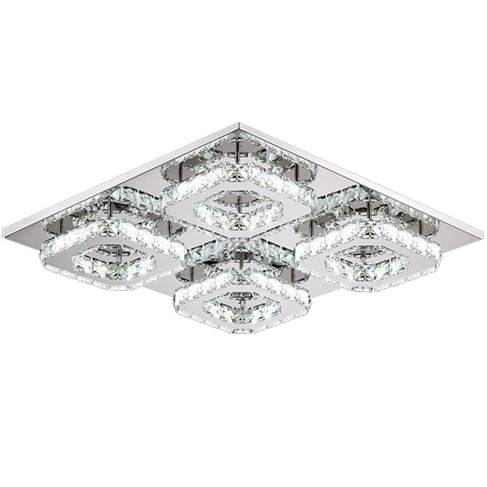 48W LED Kristall Küche Deckenlampe Wohnzimmer Deckenleuchte Badleuchte Warmweiß