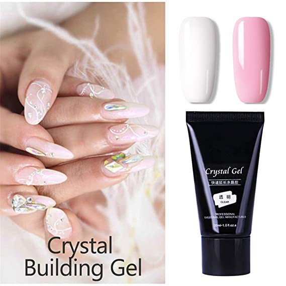 1 pc Nail Poly Building Gel Construcción rápida Nail Tips Finger Extension Pegamento Nail Art UV LED Gel Nail Enhancement Tool (Bare Pink): Amazon.es: ...