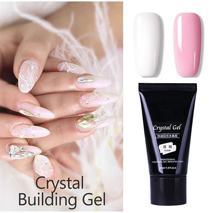 1 pc Nail Poly Building Gel Construcción rápida Nail Tips Finger Extension Pegamento Nail Art UV LED Gel Nail Enhancement Tool (Bare Pink): Amazon.es: ...