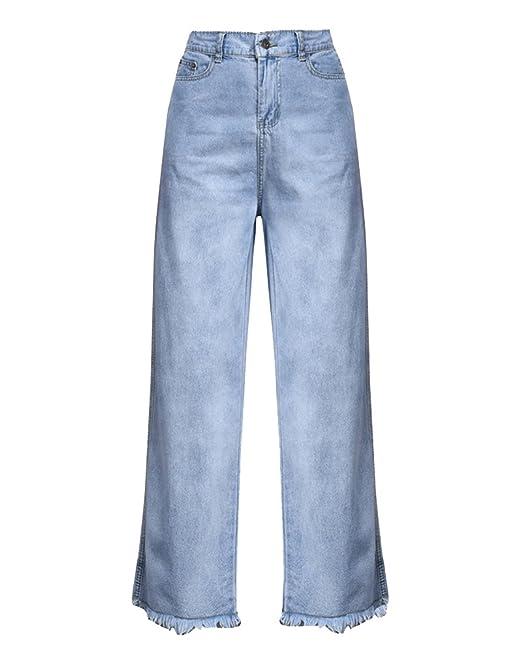 Vaqueros Anchos Mujer Cintura Elastica Casual Pantalones ...