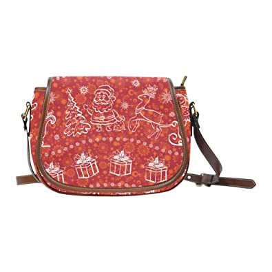 0f6c289f64c5 Image Unavailable. Image not available for. Color  Christmas For Holiday  Oxford Fabric Saddle Bag ...