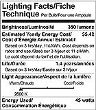 GE Lighting Soft White 73027 45-Watt, 350-Lumen R20 Floodlight Bulb with Medium Base, 12-Pack