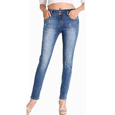 Skinny Jeans classique qui s étend des Femmes avec crayon élastique  élastique Jeans Femme Pantalon 587dd9852b37