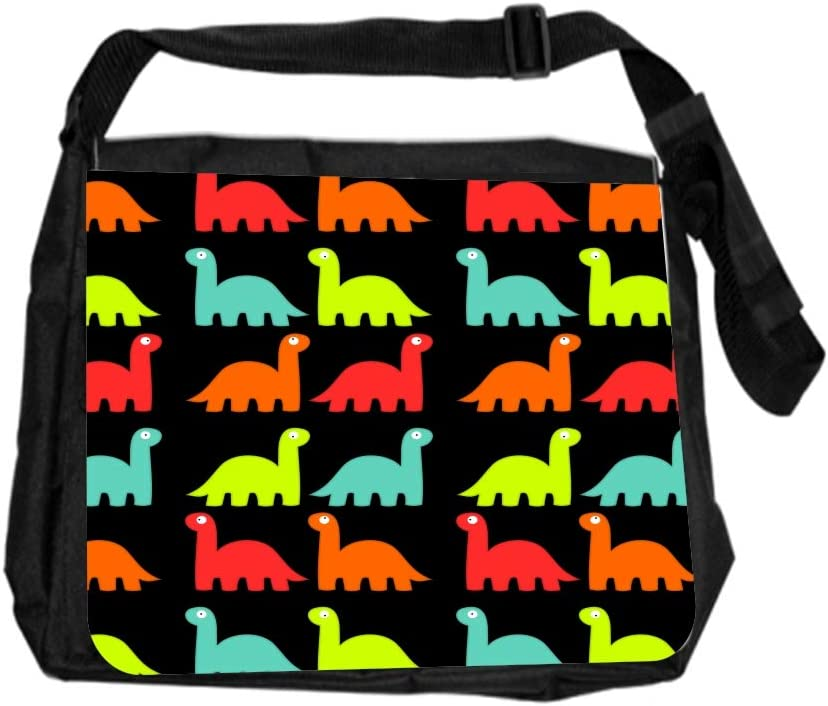 Dinosaur DinoPattern Cross Body Shoulder Messenger Laptop Bag