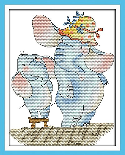 Joy Sunday Cross Stitch Kits 11CT Spamted Small Elephant Gro
