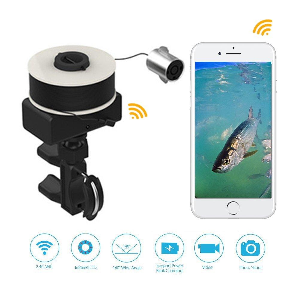 Wifi Underwater Camera Portable Visual Fish Finder Smart-phone Wireless Underwater Fishing Camera Video Camera IOS Android Moblie-phone Fishhunter