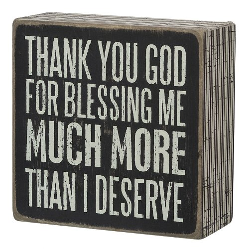 61lRuJPPLAL Primitives by Kathy Square Box Sign, 4-Inch, Thank You God
