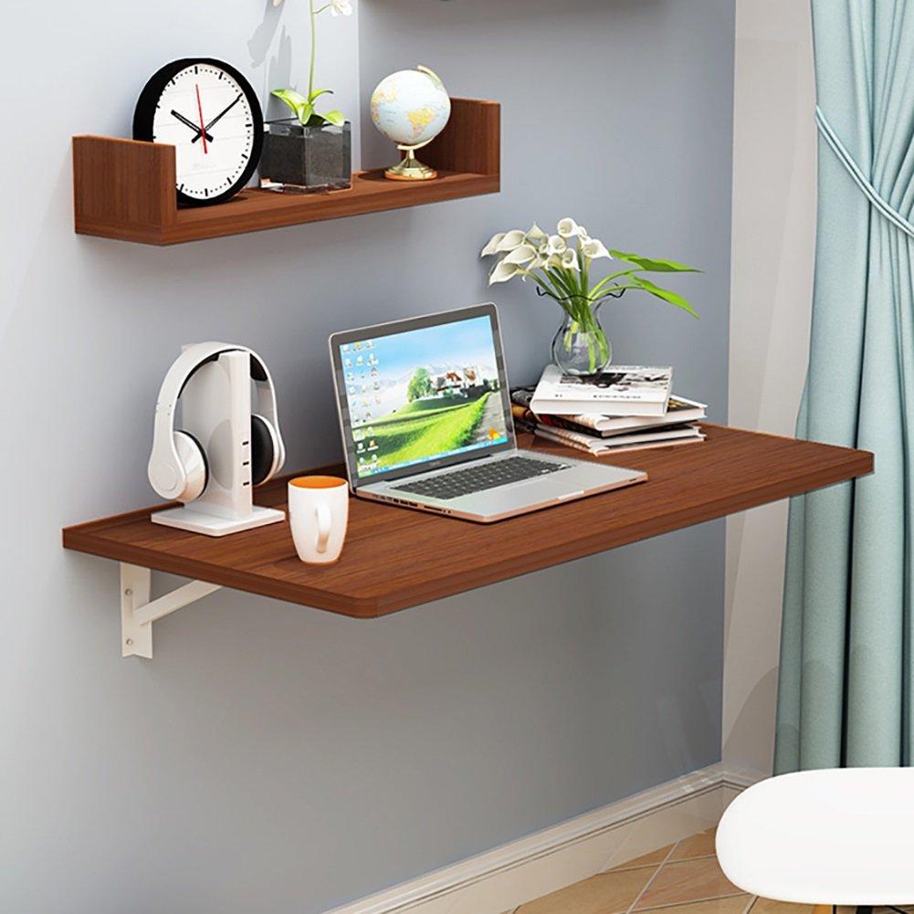 ZJM 折りたたみ式壁掛け式デスク落書き式食卓用テーブル壁用品秘書コンピュータデスクサイドテーブル ( 色 : Borwn ) B0793M99XP Borwn Borwn