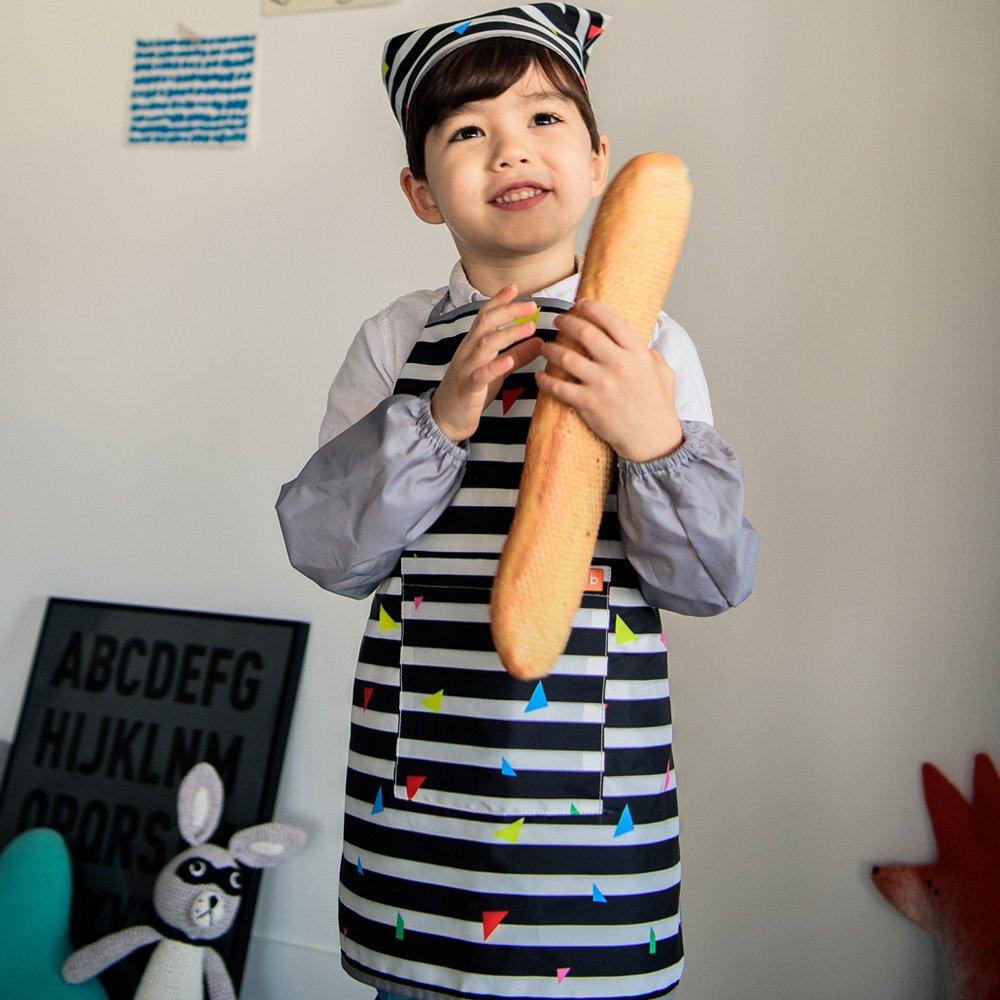 BAY-B Kids Apron arm Sleeve hat Kitchen Cooking and Baking Wear Kit PB Free