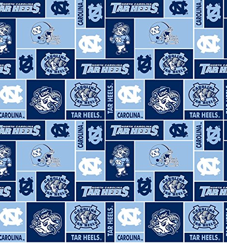 College University of North Carolina Tar Heels 012 Print Fleece Fabric By the Yard