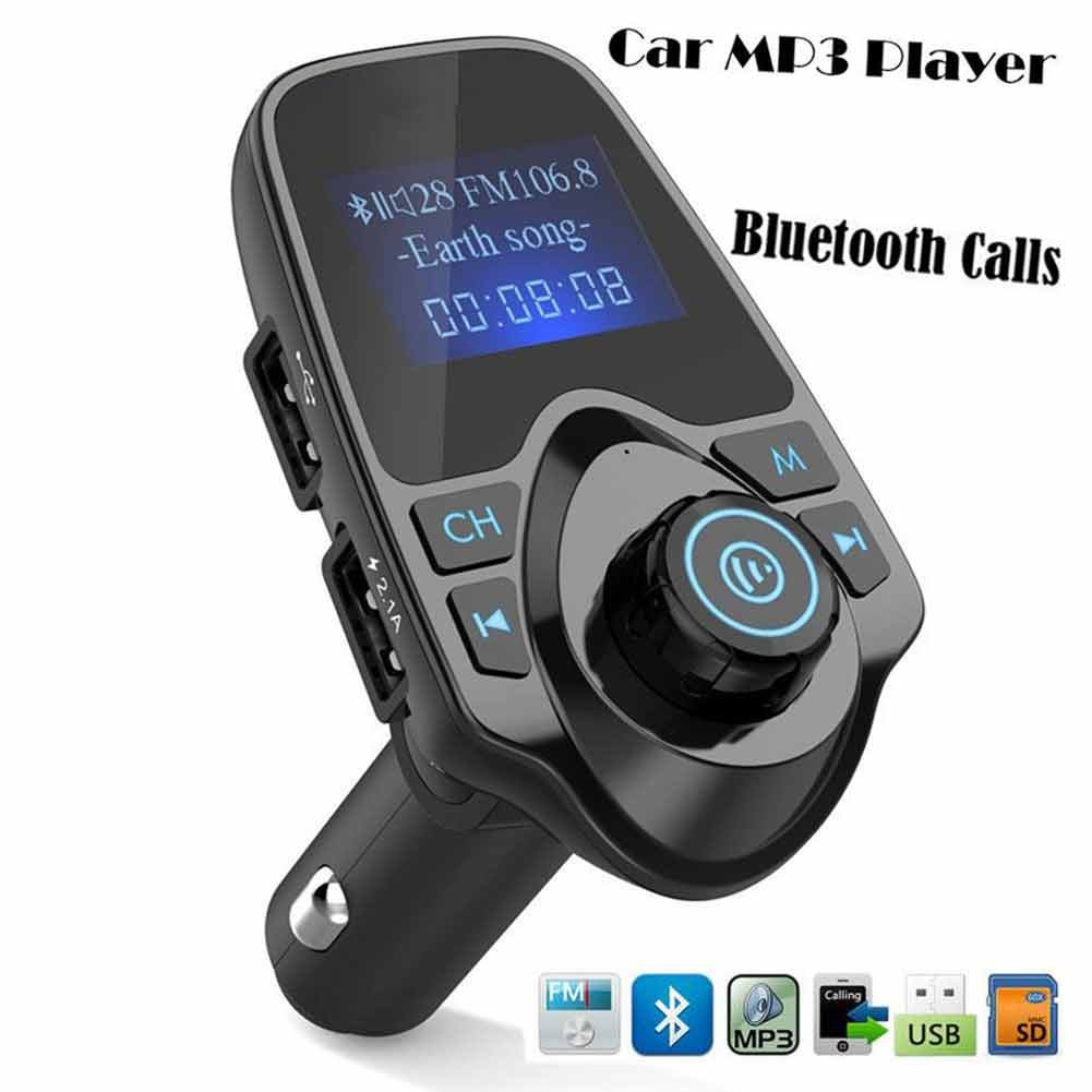 LED Frequency Display Car MP3 Player Supports Bluetooth Hands-Free FM Transmitter Music Playing Built-in Intelligent Microphone with USB/TF Card GoodWill Sky BT11-am