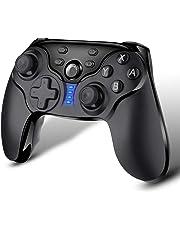 ECHTPower Nintendo Switch Controller, Bluetooth Gamepad Controller, Wireless Gamepad Joystick mit Wiederaufladbarer Akku, Switch Zubehörsets Turbo und Dual Shock Funktionen für Nintendo Switch