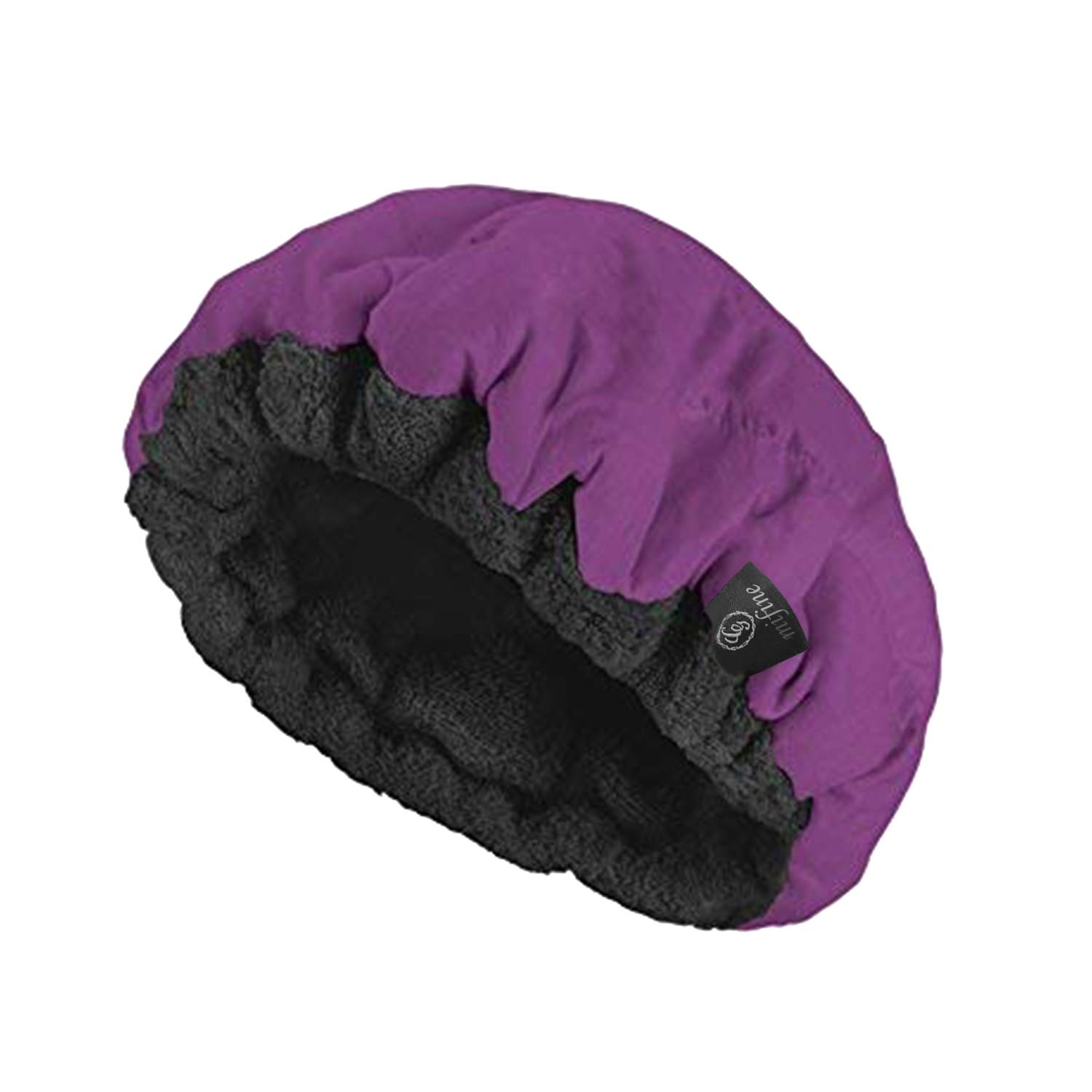 Cordless Deep Conditioning Heat Cap - Microwavable Heat Cap for Deep Conditioning Hair Therapy, 100% Natural Cotton, Flaxseed Seed Interior for Maximum Heat Retention (Purple)