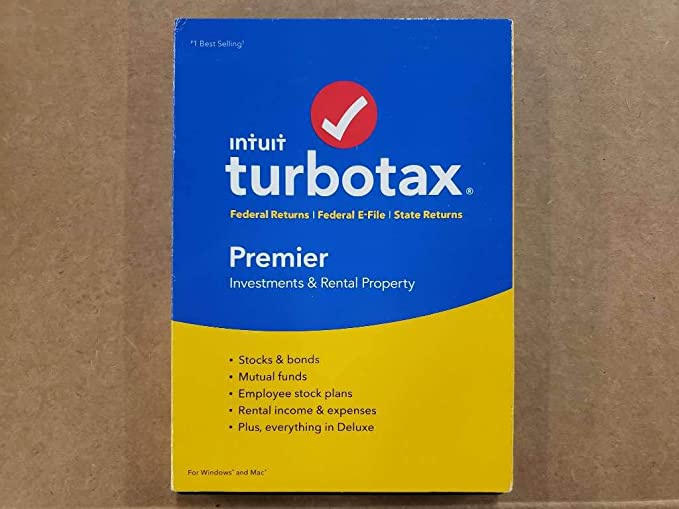 E-File State 2018 TurboTax Premier Federal Mac|Windows CD 2018 FREE SHIP