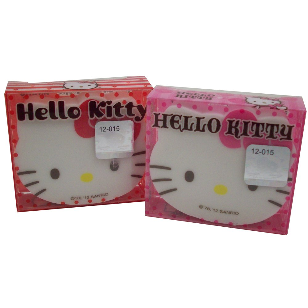 2 Piece Set of Hello Kitty Face Erasers