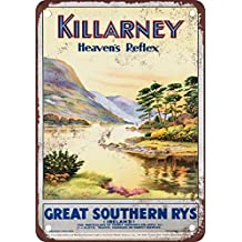 Killarney Ireland Vintage Look Reproduction Metal Tin Sign 12X18 Inches