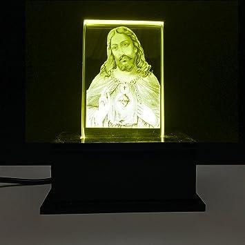 God Jesus Car Dashboard Idol With Yellow Lights Amazon In Home