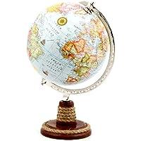 Mavi Küre Dünya Haritası - 8 İnç Dekoratif Dünya Haritası
