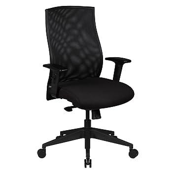 FineBuy Design Chaise Bureau Tissu Executif Rembourre Tournante
