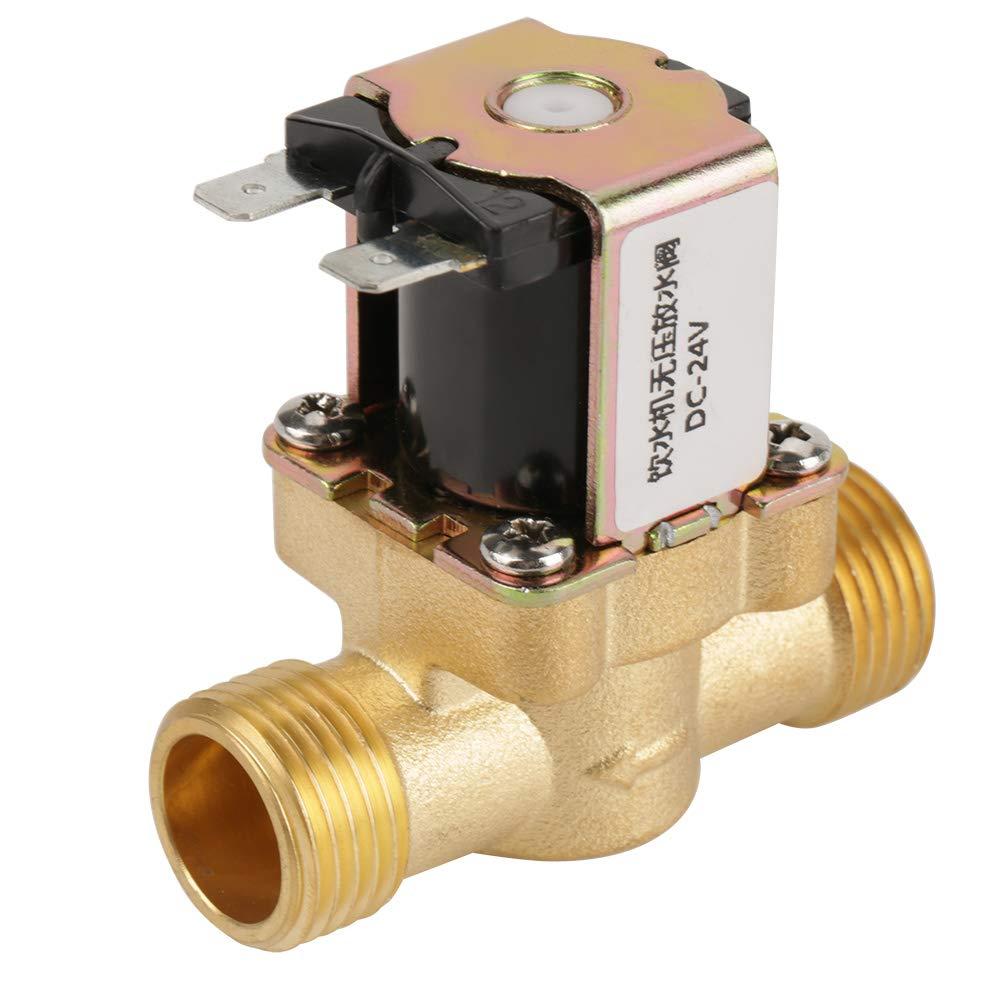 AkozonÉlectrovanne 24V BSPP G1 / 2 Laiton Électrovanne Électrovanne Normalement Fermée Régulateur De Pression À 2 Voies