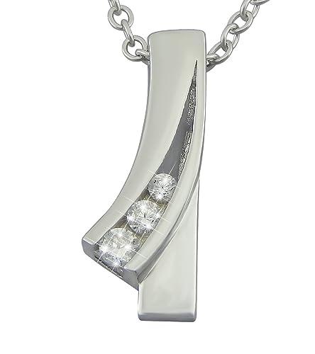 c7dc715bcb94  veuer Cadenas de plata de ley 925 rodiada de joyas para mujer collar de  cadena